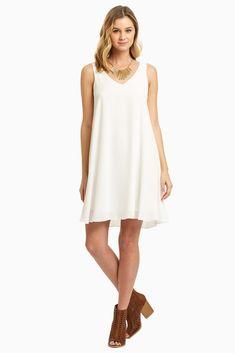 Basic-White-Chiffon-Dress $46