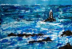 Pointe du Raz - Bretagne (gesso-acrylic-bister on paper - 30x40 - 300316)