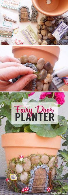 DIY Terracotta Fairy House Planter.