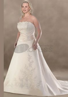 2012 Style A-line Strapless Beading Sleeveless Court Trains Satin Wedding Dresses For Brides Cheap Wedding Dresses Uk, Plus Size Wedding Gowns, Bridal Dresses, Beauty Pageant Dresses, American Dress, Elegant Bride, Bustier, Couture Dresses, Fall Dresses