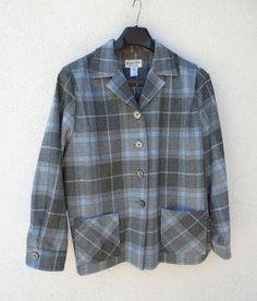 PENDLETON Heritage Limited Edition 49er Light Blue Gray Wool Jacket Size XL #Pendleton #BasicJacket