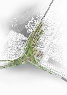 Kaohsiung Port Station Urban Design Competition. Quite a beautifully rendered site plan