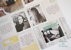 Great layout with lots of journaling #projectlife It Works For Bobbi!: New Project Life Layout!