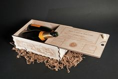 Wood Wine Gift Boxes - hand made and Laser Engraved personalization with names, dates, LOGOS, poems, graphics and photos - great gift idea, this is a 2 bottle size for $89 plus shipping.  I also make 1 bottle & 3 bottle boxes. (wine not included!)