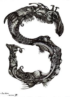 Original Surrealism: S is for Serpent by SA Artist & Illustrator Ras Steyn - Pen & Ink Drawing - in the Drawings category was listed for on 5 Aug at by GALLERY BIZARRE in East London Surreal Art, Illustration, Drawings, Ink Pen Drawings, Surrealism, Ink Drawing, African Artists, Ink, South African Artists