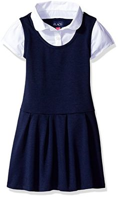 366fcf41e The Children's Place Girls' Uniform 2-Fer Dress ** You can get additional  details at