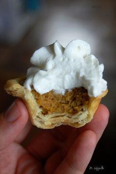Mini Pumpkin Pies - on my Thanksgiving list!