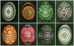 Sorbian Easter eggs in a variety of styles and techniques. craft, paint egg, picasa, sorbian easter, eric muller, hands, art, wax, easter eggs