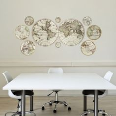 Antique Maps Wall Decals