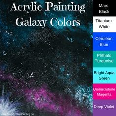 How To Paint A Galaxy and Planets with Acrylics - Step By Step Painting Canvas Painting Tutorials, Acrylic Painting For Beginners, Acrylic Painting Tutorials, Step By Step Painting, Painting Lessons, Diy Painting, Beginner Painting, Pour Painting, Painting Techniques