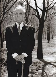 """willigula: """" Portrait of the blind author Jorge Luis Borges in Central Park by Diane Arbus, 1969 """" Diane Arbus, Circus Performers, Writers And Poets, Transgender People, Samuel Beckett, Book Writer, Story Writer, Portraits, Central Park"""