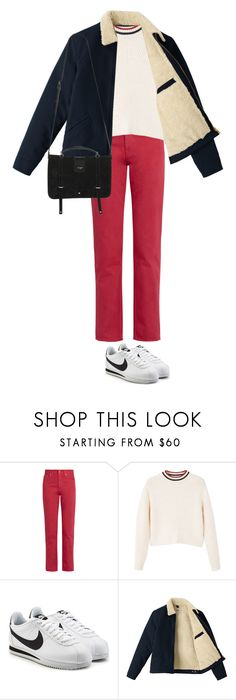 """""""Untitled #856"""" by danceaddict15 ❤ liked on Polyvore featuring Acne Studios, MANGO, NIKE and Yves Saint Laurent"""