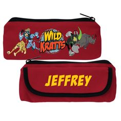 The Official PBS KIDS Shop | Wild Kratts Creature Adventure Red Pencil Case