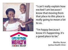 Nurse, Martha encourages young girls to go into nursing so they can have a better future #OperationHealth #RND15