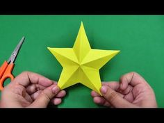 How to make an origami paper star, Origami. Learn how to make a simple and easy paper star step by step. (Paper Size : 6 inch x 6 inch or 15 cm x 15 cm) For more DIY Paper Craft Ideas, Videos & Tutorials Paper Folding Crafts, Easy Paper Crafts, Diy And Crafts Sewing, Crafts For Girls, Handmade Crafts, 3d Paper Star, Paper Stars, Paper Tree, Origami Easy