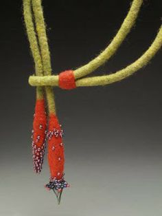 felted jewelry | ve never worn felt jewelry, yet these gorgeous pieces from Gail ...