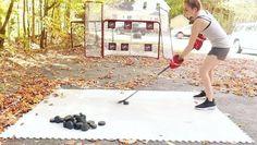 Training Equipment, Training Tips, Street Hockey, Hockey Training, Soccer Goalie, Shooting Targets, Ice Hockey, Backyards, Food Truck