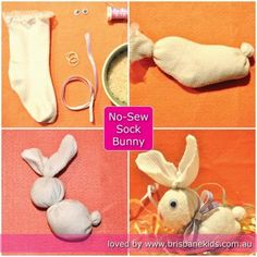 No-Sew Sock Bunny | Easter Craft - Brisbane Kids An easy no sew craft for kids at Easter