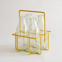 Maisy & Grace, NZ based store - would make a great vase Cool Store, Mellow Yellow, Cute Designs, My Favorite Color, Interior Styling, Color Splash, Crates, Objects, Milk Bottles