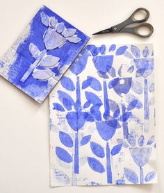 Art with Kids: Collograph Flower