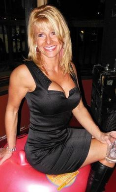 Hot mature euro blonde cougar in boots