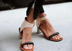 Celine two-tone leather sandals