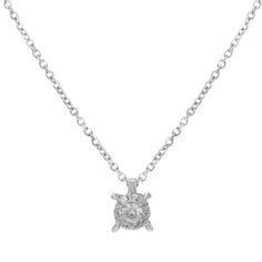 "Bliss by Damiani ""Illusion"" 18k White Gold & 0.10 Cttw Diamonds Pendant Necklace"