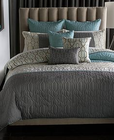 I live this...matches our remodrl perfect!!   Bryan Keith Bedford 9 Piece Reversible Comforter Sets - Bed in a Bag - Bed & Bath - Macy's
