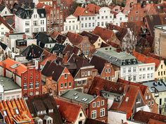 size: Photographic Print: Aerial View of Old German Town of Lubeck by Boris Stroujko : Aerial View, Find Art, Brighton, Germany, Landscape, House Styles, Instagram Posts, Travel Tourism, Halle