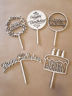 Laser Cut Steel, Laser Cut Mdf, Laser Cutting, Laser Cutter Projects, Happy Birthday, Diy Crafts To Do, Hand Embroidery Stitches, Birthday Cake Toppers, Plexus Products