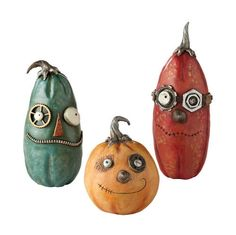 Pumpkinseeds by Janell Berryman combine traditional folk art and steampunk, for a unique decoration at Halloween or any time of year Halloween Village, Halloween 2017, Halloween House, Holidays Halloween, Halloween Crafts, Happy Halloween, Halloween Decorations, Fall Pumpkins, Halloween Pumpkins