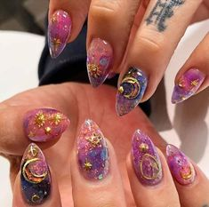 Apr 29 2020 50 Best Coffin Nails Long To Die For- 2020 Page 45 of 50 myfl Edgy Nails, Swag Nails, Cute Nails, Pretty Nails, Edgy Nail Art, Grunge Nails, Fancy Nails, Witch Nails, Nail Design Spring