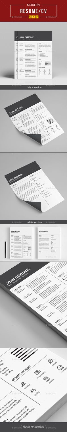 Resume - #Resumes Stationery Download here: https://graphicriver.net/item/resume/20330582?ref=suz_562geid