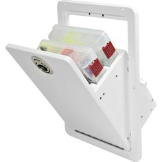 Kayak Fishing Modifications Tilt Out 2 Tray Tackle Storage - Boat Console, Center Console Boats, Aluminum Fishing Boats, Aluminum Boat, Fishing Boat Accessories, Camping Accessories, Boat Storage, Storage Ideas, Storage Solutions