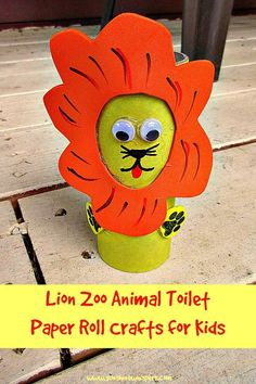 Lion Zoo Animal Toilet Paper Roll Crafts for Kids - Sunshine Whispers  http://www.sunshinewhispers.com/2015/07/lion-zoo-animal-toilet-paper-roll-crafts-for-kids/