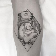 sweet bear family tattoo design by @sandracunhaa