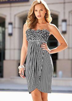 ruffle top strapless dress  $34