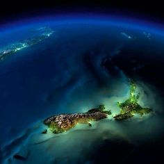 Google Earth view of New Zealand
