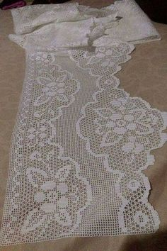 This Pin was discovered by Ayf Crochet Lace Edging, Crochet Doily Patterns, Crochet Borders, Crochet Chart, Cotton Crochet, Crochet Doilies, Crochet Stitches, Free Crochet, Fillet Crochet