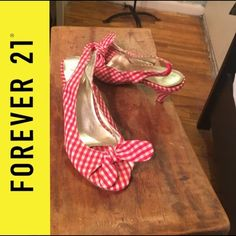 Adorable red and white check size 6 Pre loved, adorable Forever 21 Shoes Heels