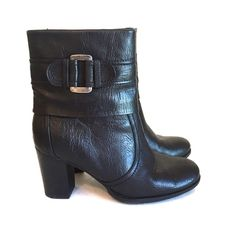 ⚡️Flash Sale! ⚡️Black Ankle Boots With Buckle Black ankle boots are classic and a silver tone buckle and chunky 3 inch heel make them fun. These Sonoma Alexy boots have only been worn once and look brand new. They have a side zipper and a cute floral lining and are made of man made materials. They run true to size. Sonoma Shoes Ankle Boots & Booties