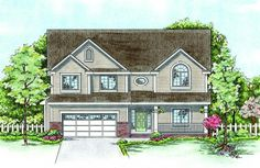 House Plan 402-01395 - Traditional Plan: 2,671 Square Feet, 4 Bedrooms, 2.5 Bathrooms