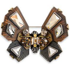 Lanvin Butterfly Brooch Grey One Size