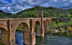 landscapes nature trees architecture houses hills bridges bricks HDR photography rivers