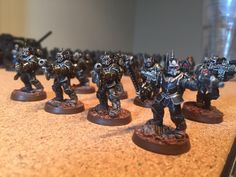 Imperial Guard Scions Warhammer 40k Black and Metal Paint Scheme