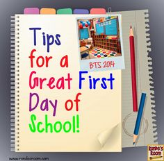 Hook Them from the First Day ... Tips for Back to School - Rundes Room