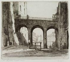 Henry Wilfrid Deville, Nantes, le pont Sauvetout, 1914 Old Pictures, Brooklyn Bridge, France, Photos, Travel, Nantes, Fine Arts Museum, Cities, Bridge