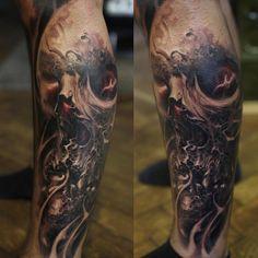 3,041 отметок «Нравится», 27 комментариев — David Jorquera (@david.jorquera) в Instagram: «#davidjorquera #krakow #blackngrey #worldfamousink #freehand #tattoo #firsttattoo @worldfamousink…»