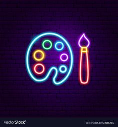 Painting neon label vector image on VectorStock Wallpaper Iphone Neon, Aesthetic Iphone Wallpaper, Aesthetic Wallpapers, Neon Sign Tumblr, Neon Words, Neon Logo, Neon Painting, Neon Design, Neon Aesthetic