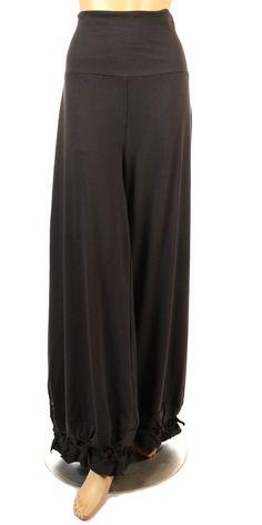 Akh Black 100/% Linen Feature Pocket Trouser BNWT One-size Plus